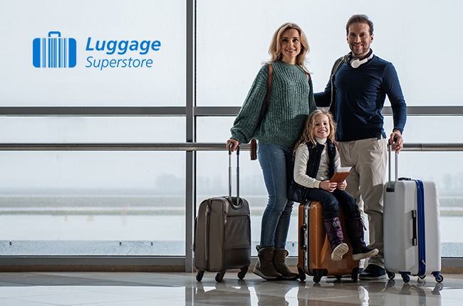 Luggage Superstore Family at Airport