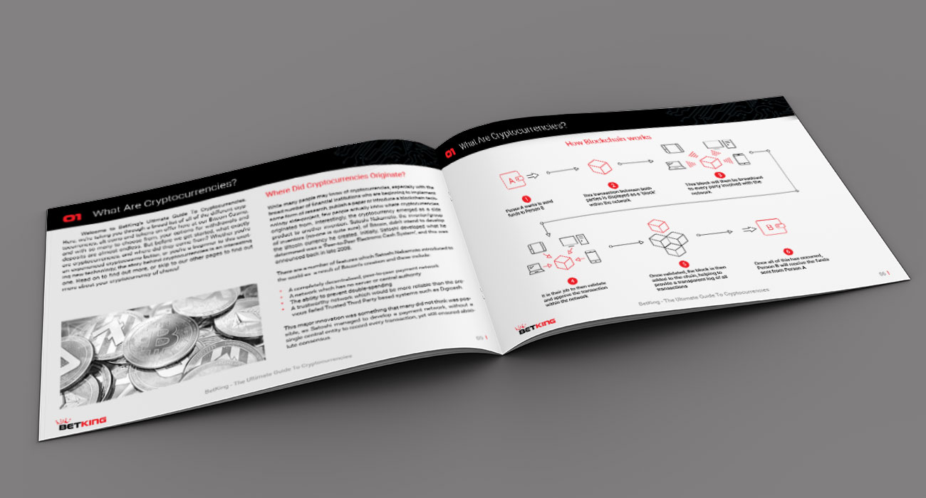 Betking Cryptocurrency Guide Booklet Creative Design Agency Essex