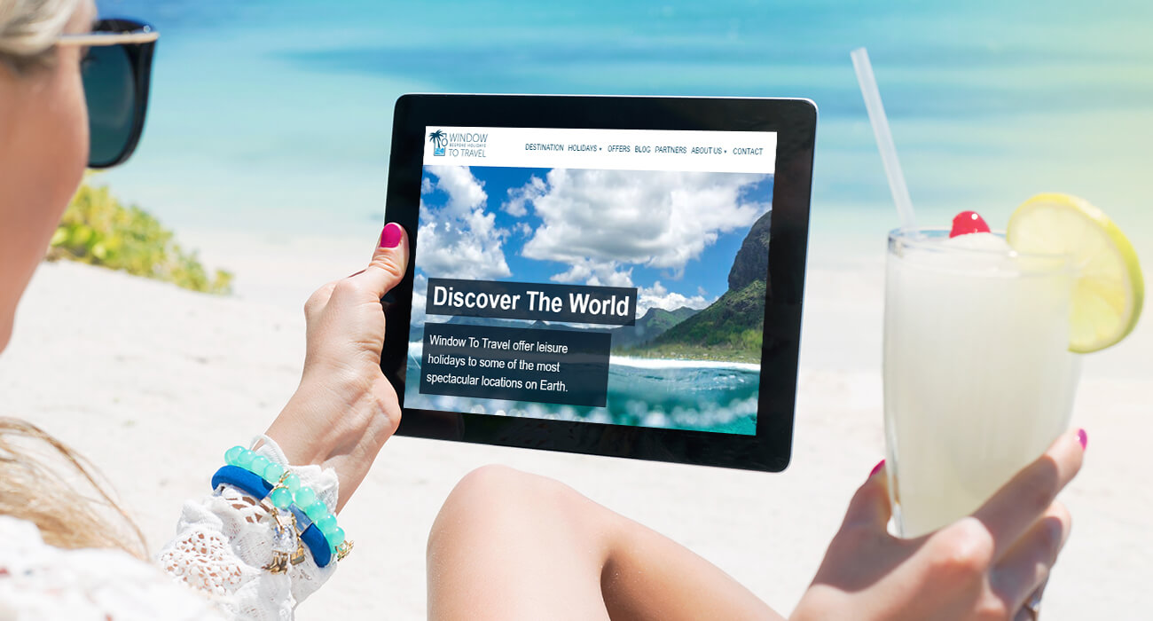 Discover The World - Woman On A Beach