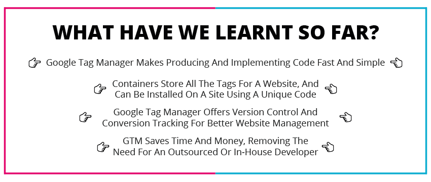 Google tag manager tips