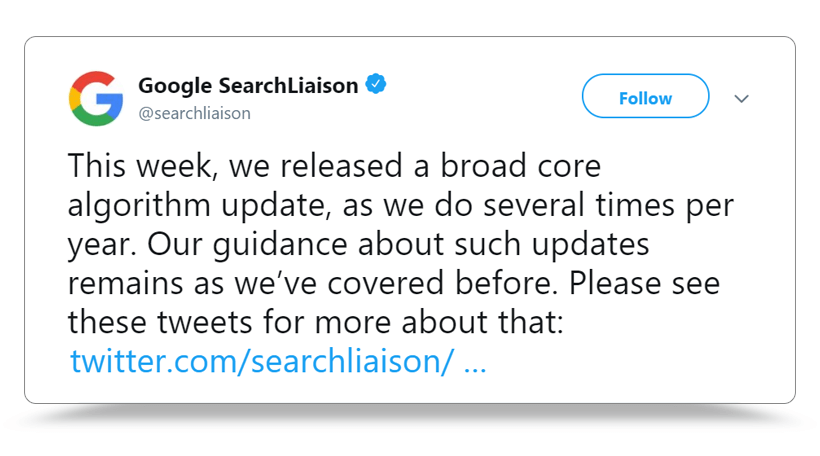 Google Released Their Next Broad Core Algorithm Update