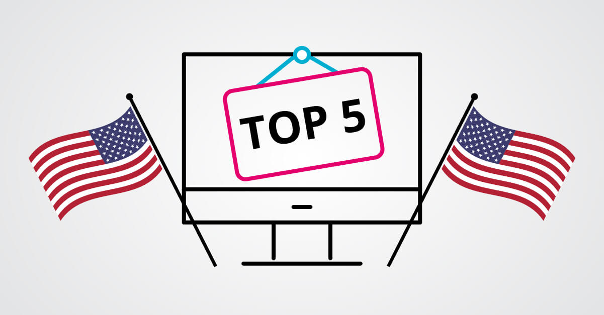 Top 5 most visited US sites