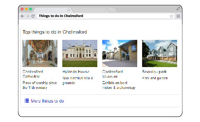 SERP Things To Do Feature