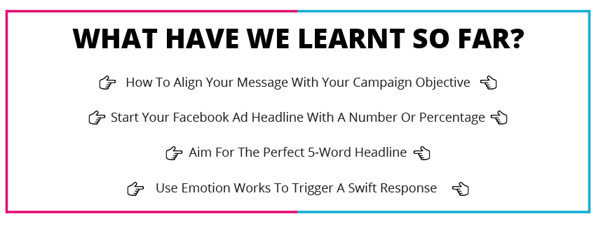What have we learnt so far about facebook ad writing