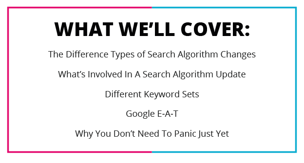 What We'll Cover How To Evaluate Search Algorithm Updates