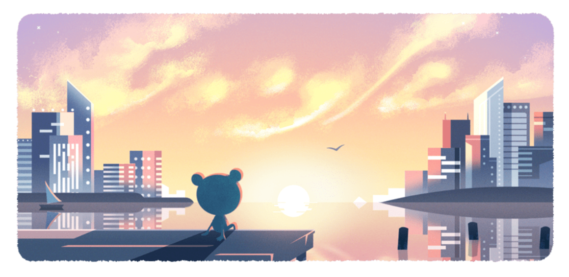 "Google welcomed the new year with this Doodle and quote: ""Wherever you are today, whether or not the skies are clear, we hope at least your vision for the year will be 20/20!"""