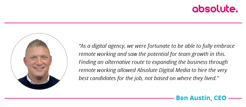 Quote from Ben, CEO of Absolute Digital Media