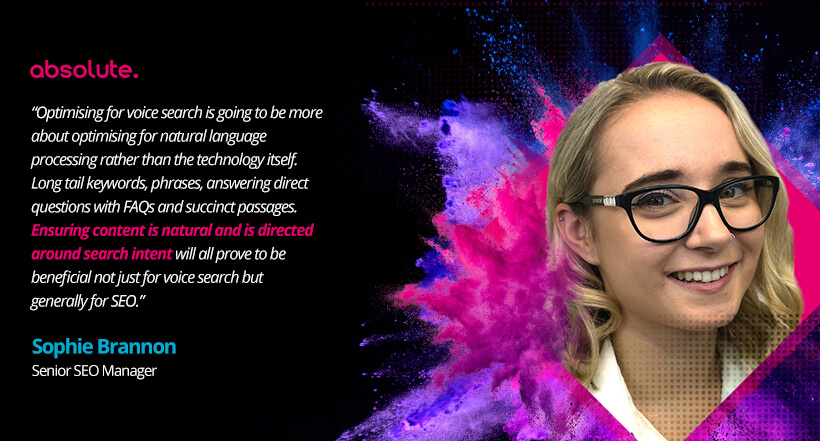 Sophie Brannon SEO Manager Quote