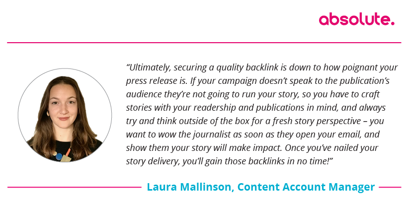Quote Laura Mallinson Content Account Manager