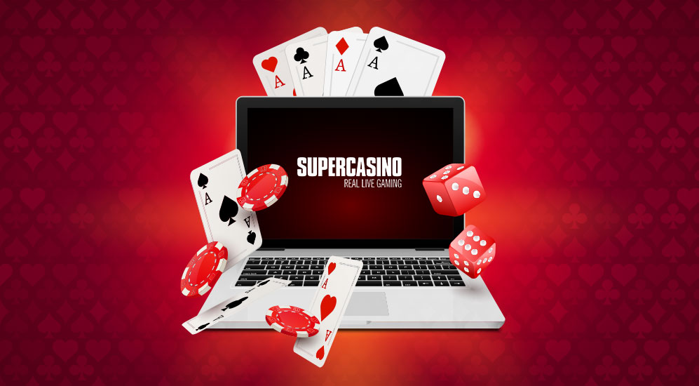 supercasino laptop cards and chips